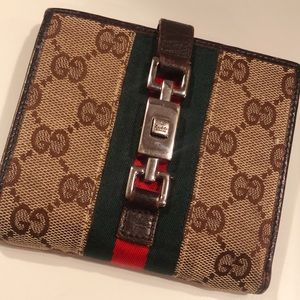 Authentic Vintage GUCCI wallet purse Double Sided